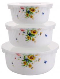 Набор 3-х салатников с крышками 03-0440