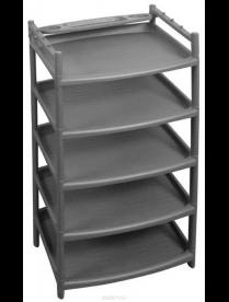 (077564) BQ2810СР Этажерка для обуви 5 полок серый