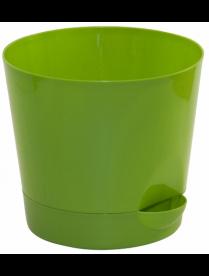 (037239) М3072 Кашпо Ника d150мм 1,6л ярко-зелёный