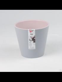 (101108) ING1555ПЕП Горшок для цветов Фиджи D 230 мм/5 л Пепельный