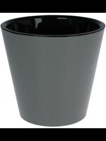 (101107) ING1555ГР Горшок для цветов Фиджи D 230 мм/5 л Графит