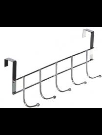 639-046 VETTA Вешалка накидная на дверь, 5 крючков, 24,5х2,5х9,5 см, металл