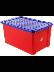 """(101833) LA1019RD Ящик для хранения игрушек """"START"""", 57л красный лего"""