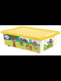 """(101064) LA1526 Ящик для хранения игрушек ТРИ КОТА """"Игры"""" веселье, 30 л"""