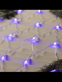 """1585746 Гирлянда """"Сеть"""", 1.6 х 1.6 м , LED-144-220V, 8 режимов, прозрачная нить, свечение синее."""