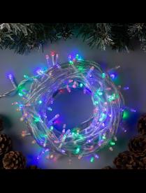 """3556803 Гирлянда """"Нить"""", 20 м , LED-200-220V, 8 режимов. прозрачная нить, свечение мульти."""