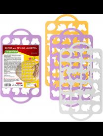 "(104994) Форма для печенья ""Ассорти"" (24 фигур) размер 40х22см DH80-229"