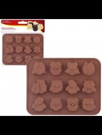 """(106919) 80.330 Форма для шоколадных конфет силиконовая """"Совы"""". VL80-330"""