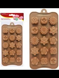 """(106920) 80.331 Форма для шоколадных конфет силиконовая """"Букет"""". VL80-331"""