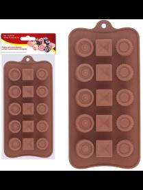 """(106922) 80.334 Форма для шоколадных конфет силиконовая """"Ассорти"""". VL80-334"""