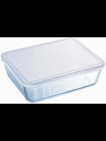 Блюдо прямоугольное с крышкой Cook Freez 27x22x9см 4л арт.244P000
