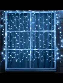 """3584234 Гирлянда """"Занавес"""" 2 х 1.5 м , IP44, УМС, белая нить, 360 LED, свечение тёплое белое, 220"""