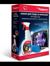 Topperr 3011 Набор для ухода за экранами ЖК, LCD и плазмы 2 предмета (ср-во+салфетка)
