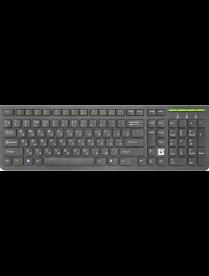 Беспроводная клавиатура UltraMate SM-536 RU,черный,мультимедиа DEFENDER45536