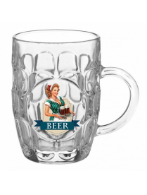 (104511) 1002/1-Д Кружка для пива 500 мл. арт.1002/1-Д ( Пейте пиво) Подарочн.упа-вка Кружка для пив
