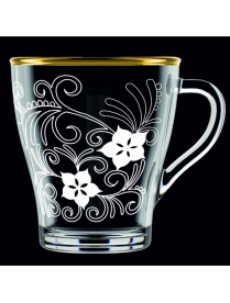 (100708) Кружка для чая 250мл. арт.1649-ГЗ Флоксы