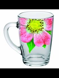 (100684) Кружка для чая 300 мл. арт.334-Д (Живая природа.Китайская роза)