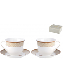 Набор чайный 2/4 Люксор ф.классическая 200мл.п/уп NKY04-G04
