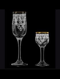 Подарочный набор 12пр. арт.1611-ГЗ (Византия) Гравировка,золото