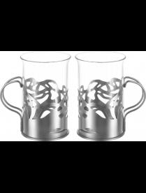 """Набор стаканов в подстаканнике APOLLO genio """"Cite Silver"""" CTS-250"""
