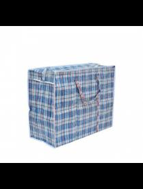 (107139) RA-40 Хозяйственная сумка на молнии, в клетку, дорожная, 40 х 35 х 20 см.