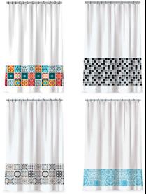 461-522 VETTA Шторка для ванной, полиэстер, 180x180см
