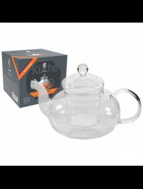 Чайник 1000мл на подставке AROMA, (боросиликатное стекло) 008245