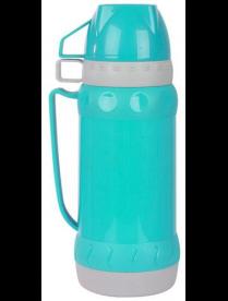 Термос 1л в пластиковом корпусе со стеклянной колбой ACQUA, 2 чашки 008239