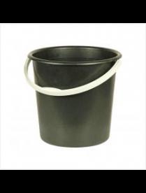 Ведро 10,0л 2 сорт черное/белые (эконом) (10) М2057