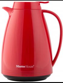 Термокувшин ТК-1.5 ТУРИН (Термокувшин пластиковый со стеклянной колбой, цвет красный) 60486
