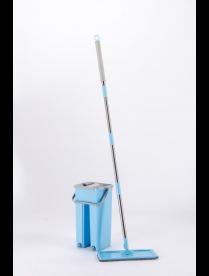 Комплект для уборки: швабра и ведро для отжима 795-02