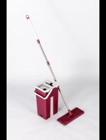 Комплект для уборки: швабра и ведро для отжима Rosenberg R-800055