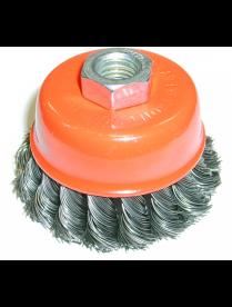 (086339) BOHRER Кордщетка чашеобразная витая жесткая 100 мм (толщ. проволоки 0,5 мм) для УШМ 3620010