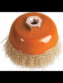 (086340) BOHRER Кордщетка чашеобразная латунированная мягкая 100 мм (толщ. проволоки 0,3 мм) для УШМ
