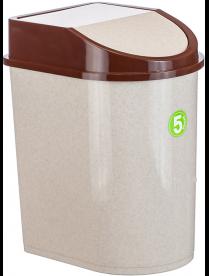 (004871) Контейнер для мусора 5л беж. мрамор М2480