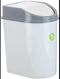 (004873) Контейнер для мусора 5л мрамор М2480 (20)