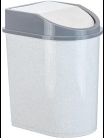 (004876) Контейнер для мусора 8л мраморный М2481 (12)
