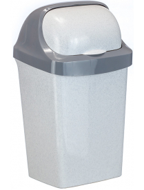 (030624) Контейнер для мусора Ролл Топ 25л Мраморный М2467