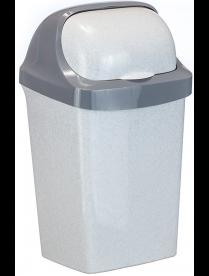 (031680) Контейнер для мусора Ролл Топ 9л Мраморный М2465 (14)