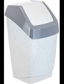 (004870) Контейнер для мусора Хапс 25л мраморный М2472