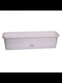 Балконный ящик 400мм с поддоном Мраморный М3220