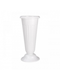 Ваза д/цветов под срез D210мм h-440мм белая (5) М5352