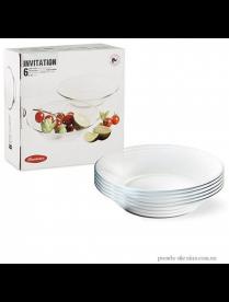 (085250) Набор тарелок Инвитейшн 215мм 6шт 10496 10496B
