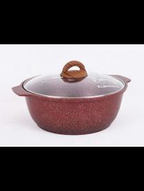 "Жаровня 4л со стекл. крышкой, АП линия ""Granit ultra"" (red) жга41а"