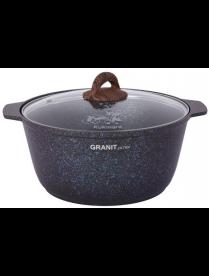"Жаровня 5л со стекл. крышкой, АП линия ""Granit ultra"" (blue) жгг51а"