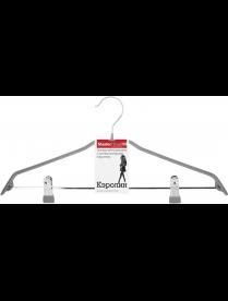(092814) Плечики металлические с противоскольз. покрытием Кэролин Серый 60583