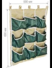 Грядка вертикальная прямоугольная (9 карманов) вывод