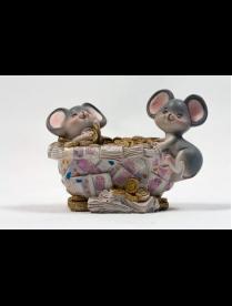 Копилка Мышки-миллионеры 11*10*8см QMN57915 (48) QMN57915