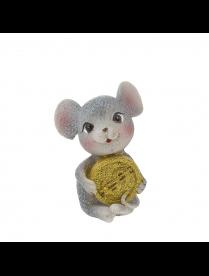 Фигурка Мышка с деньгами 7,5*8*5см QMN37936 (96)