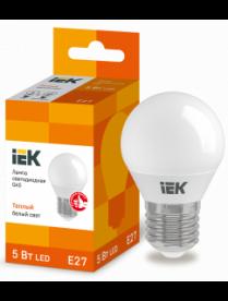 (080946) Лампа светодиодная ECO G45 шар 5Вт 230В 3000К E27 ИЭК LLE-G45-5-230-30-E27